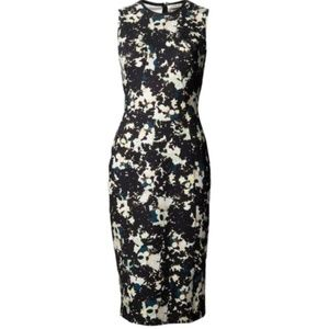 Erdem Maura Abstract Floral Fitted Sleeveless 8